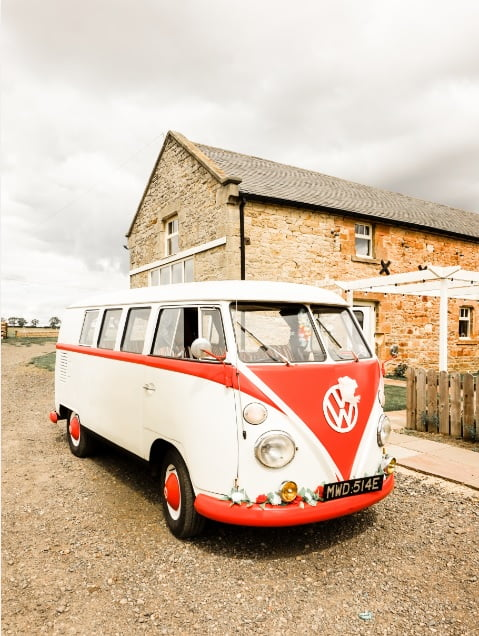 VW Campervan at Barn Wedding Newcastle North East