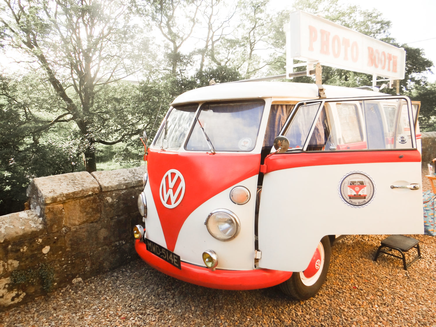 VW Splitscreeen Campervan with inbuilt photobooth