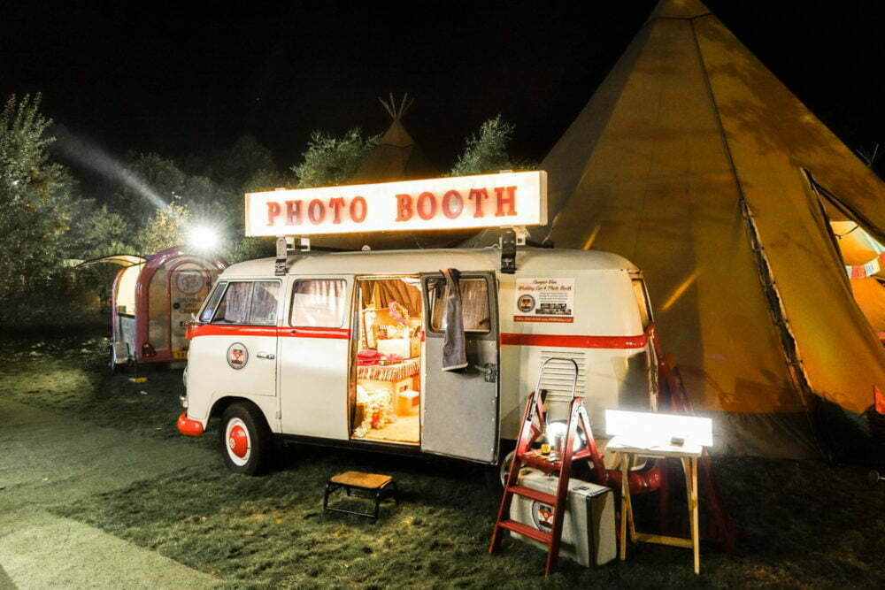 VW camper photo booth and food truck festival North East