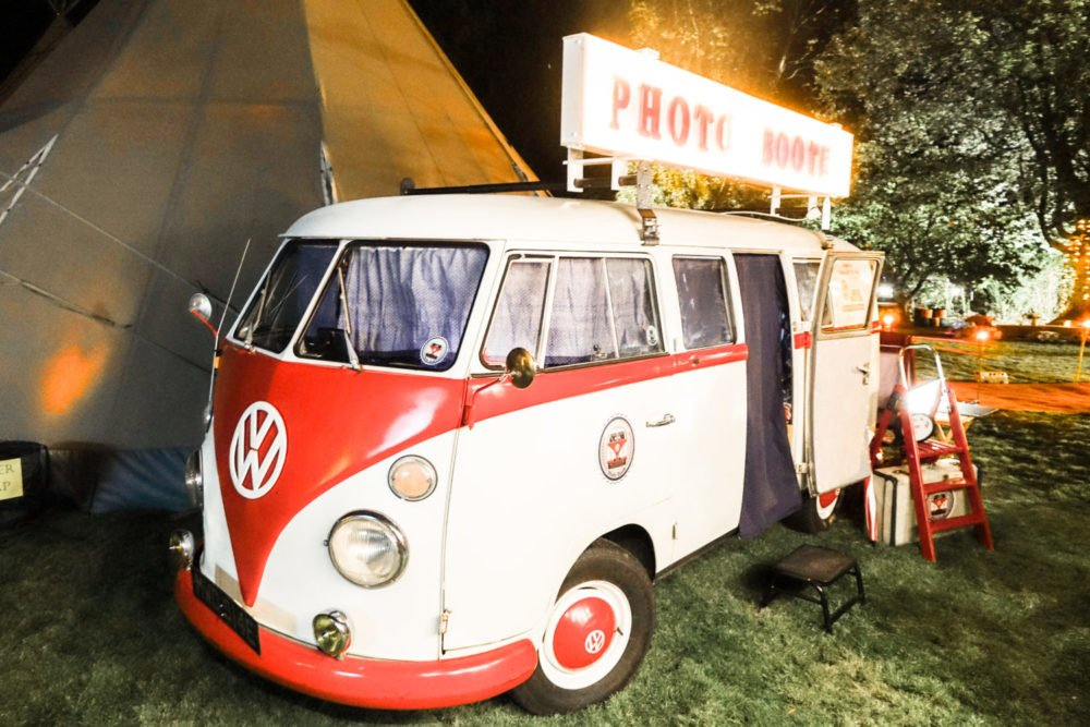 Campervan photo booth at festival