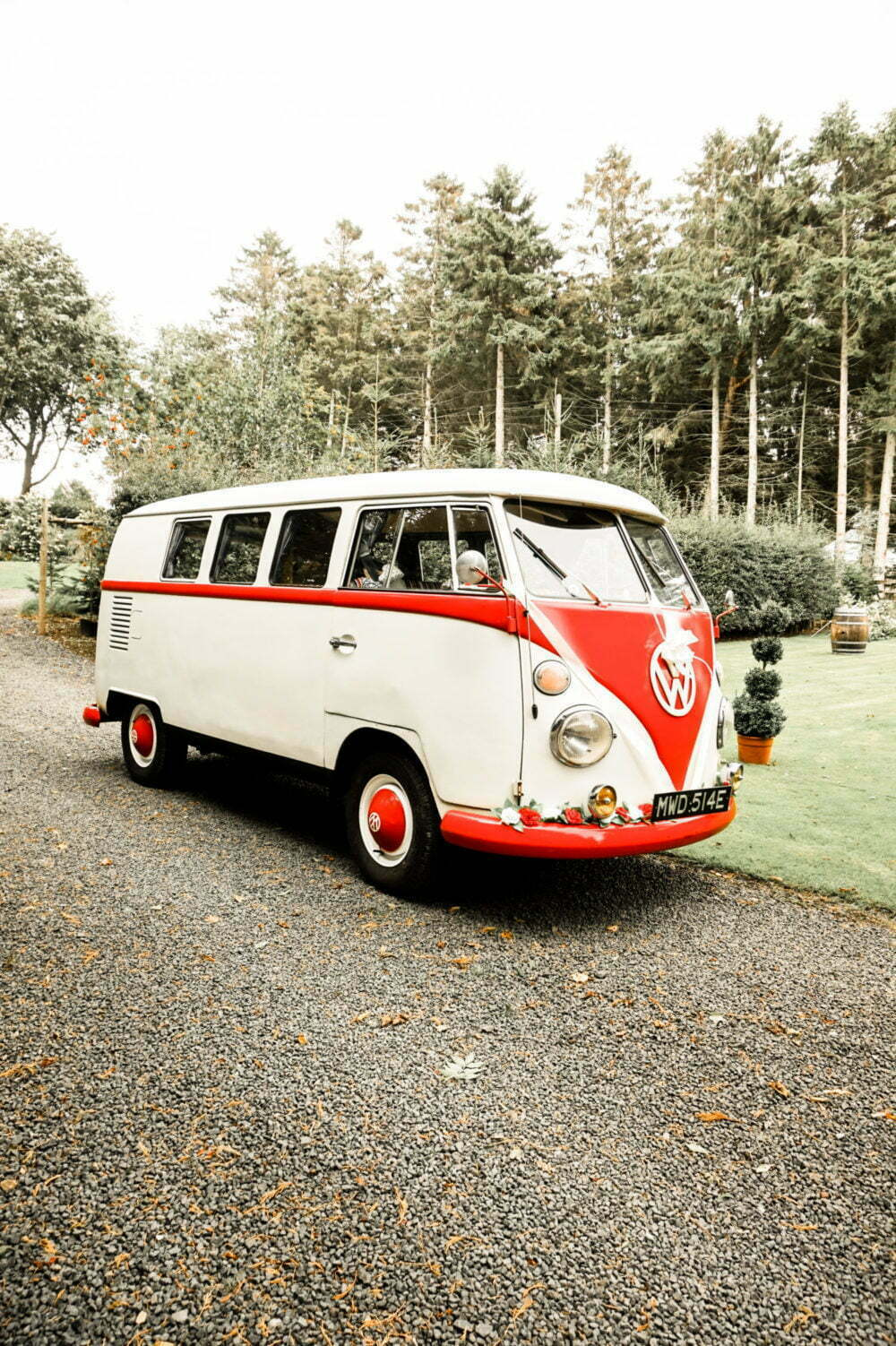 Classic VW Campervan at Barn Marquee Wedding North East