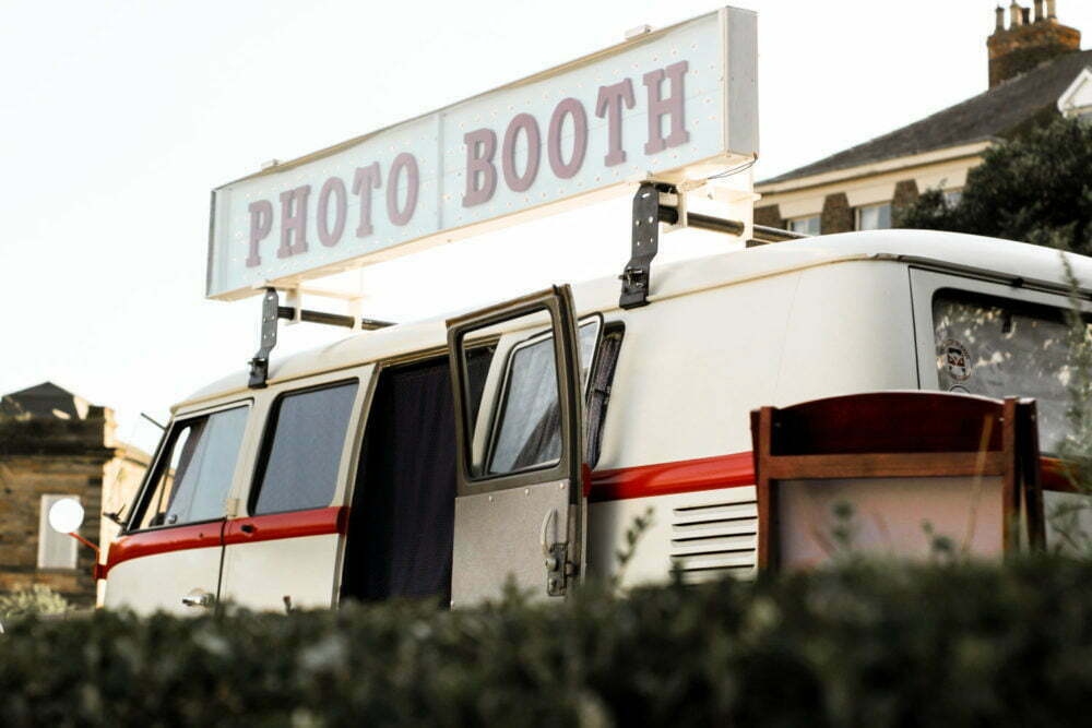 giant rooftop light up photo booth sign