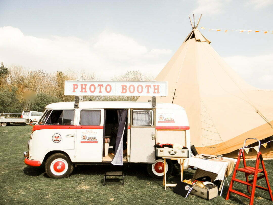 A VW Photo Booth at Tipi Wedding New Close Farm Durham North East