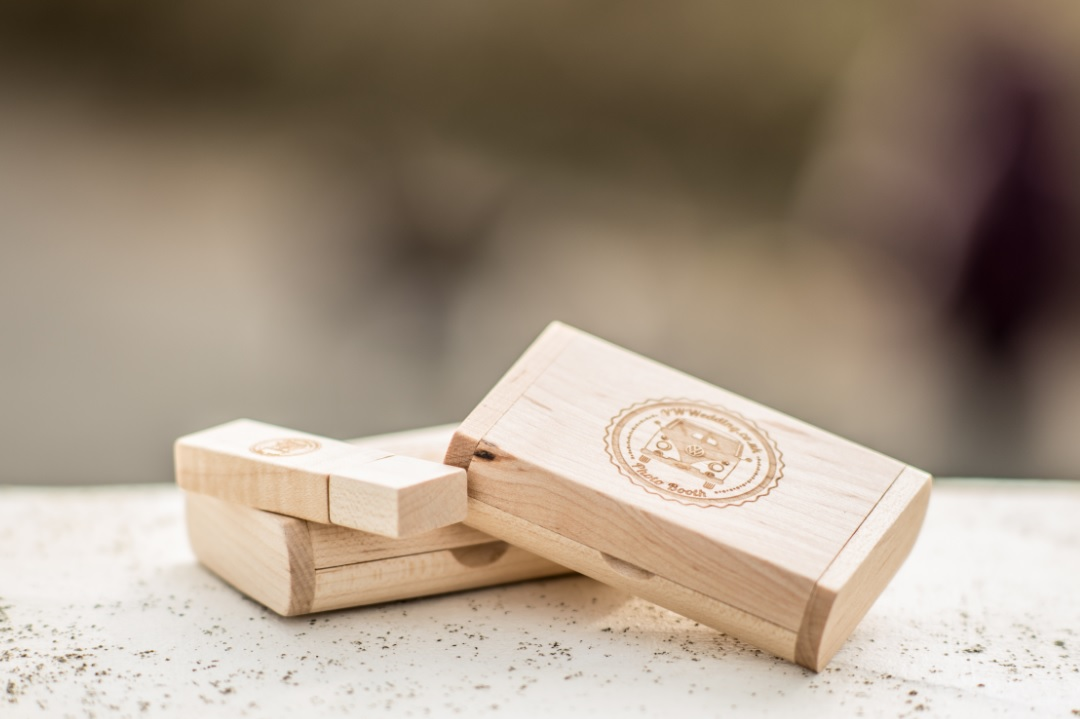 Photo Booth Wooden USB Stick and Box