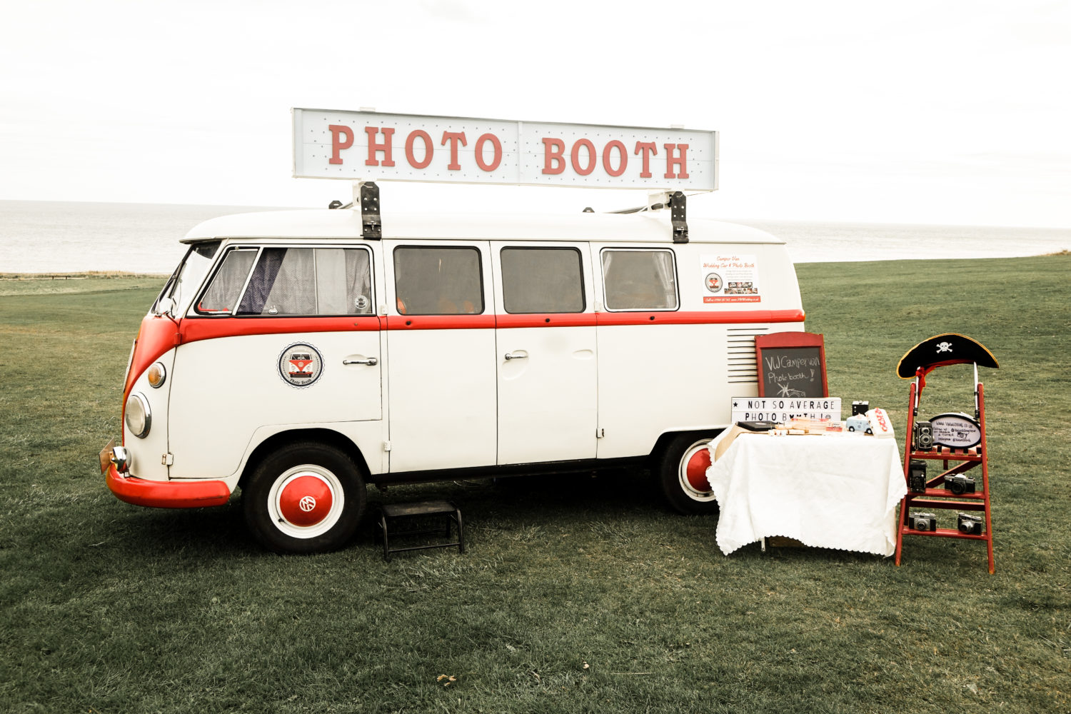 VW Photo Booth by the sea in Newcastle Sunderland