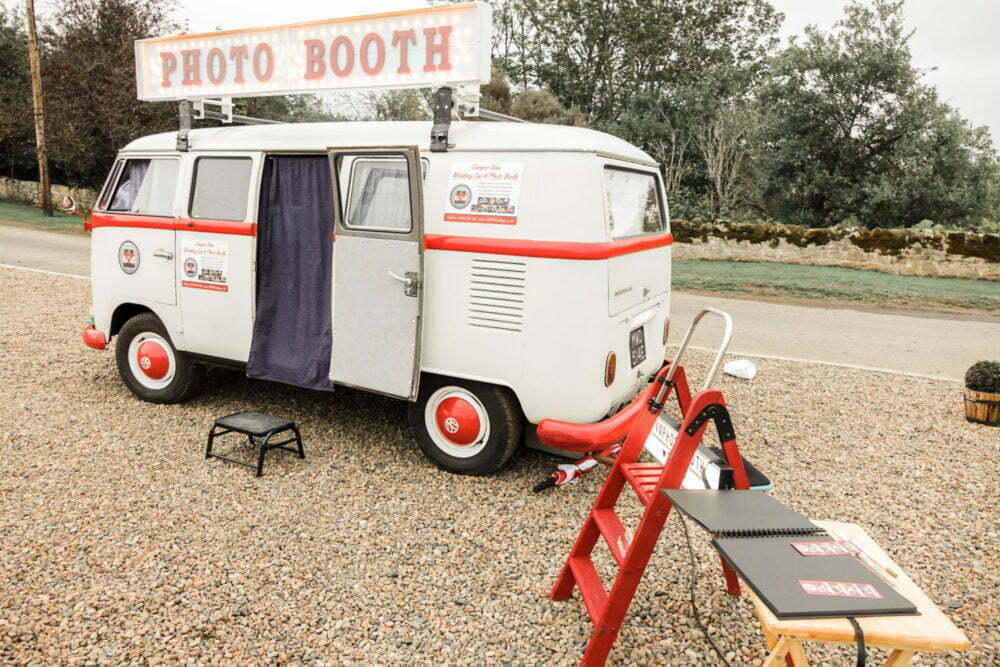 Rustic Wedding VW Photo Booth Guest Book