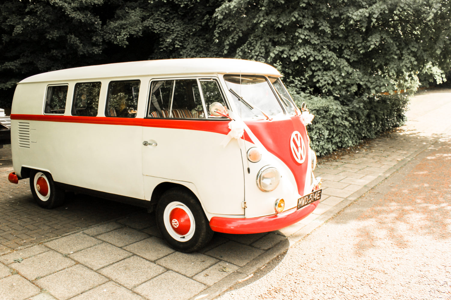 Vintage Classic VW Campervan Wedding Day