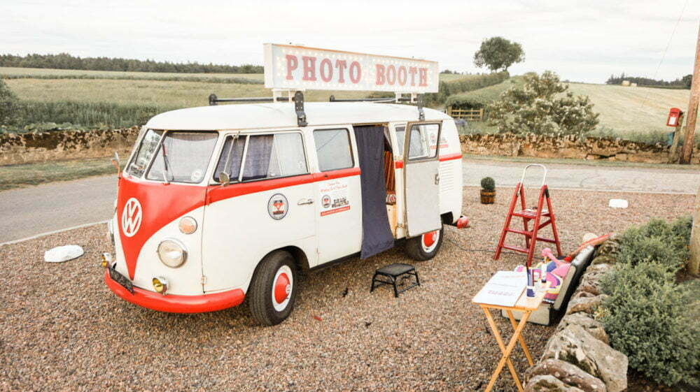 VW Photo Booth Hire at Doxford Barns wedding venue North East