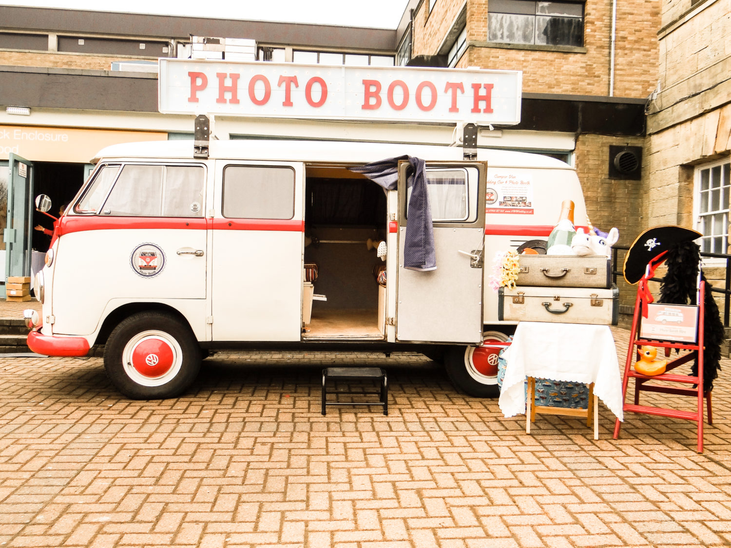 VW photo booth outside Newcastle wedding fair