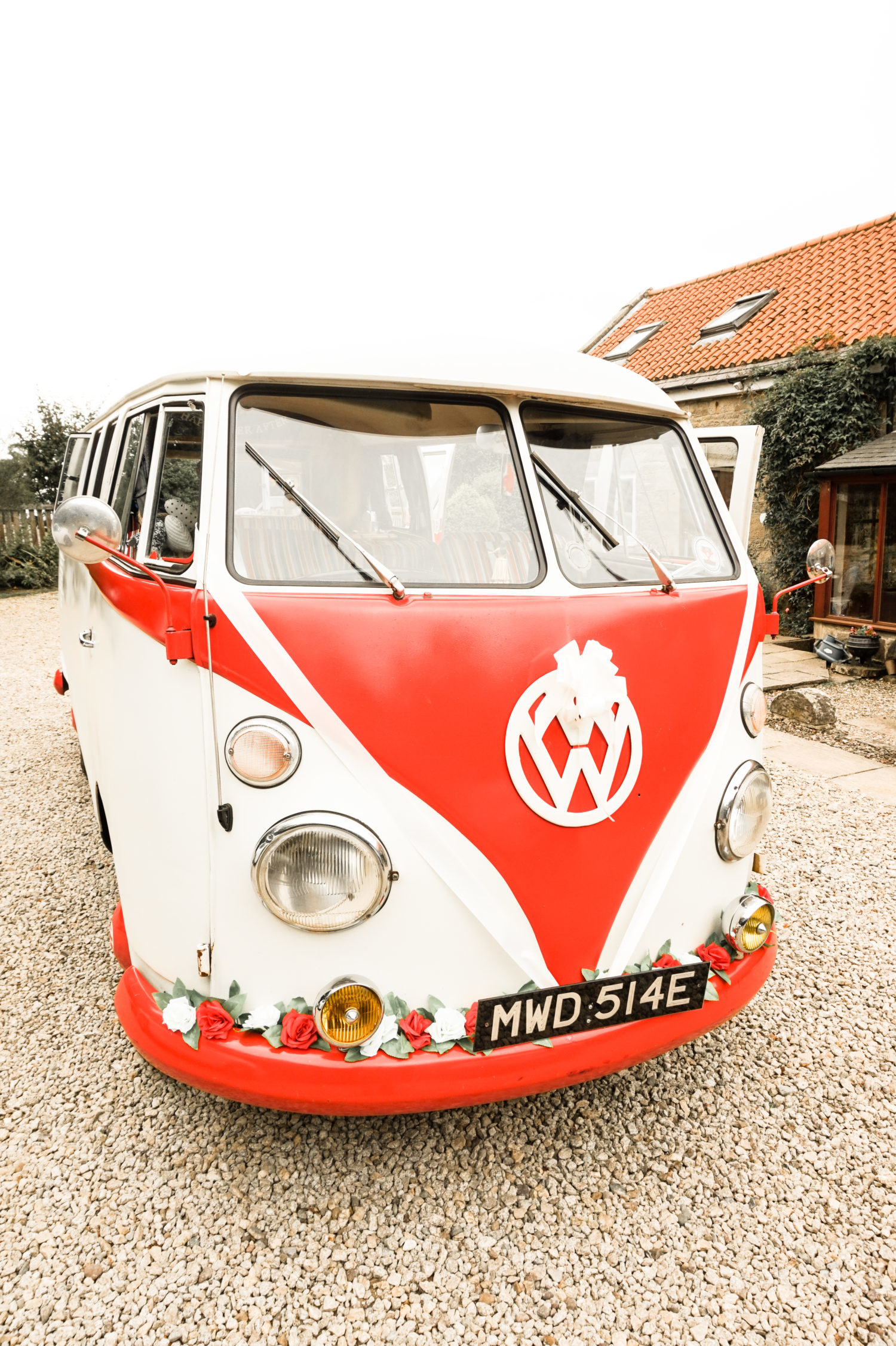 Volkswagen Split Screen Kombi at Wedding Reception