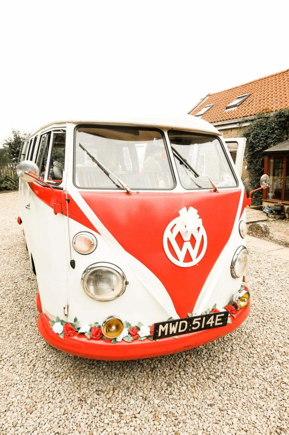 Volkswagen Split Screen Kombi at Wedding Reception