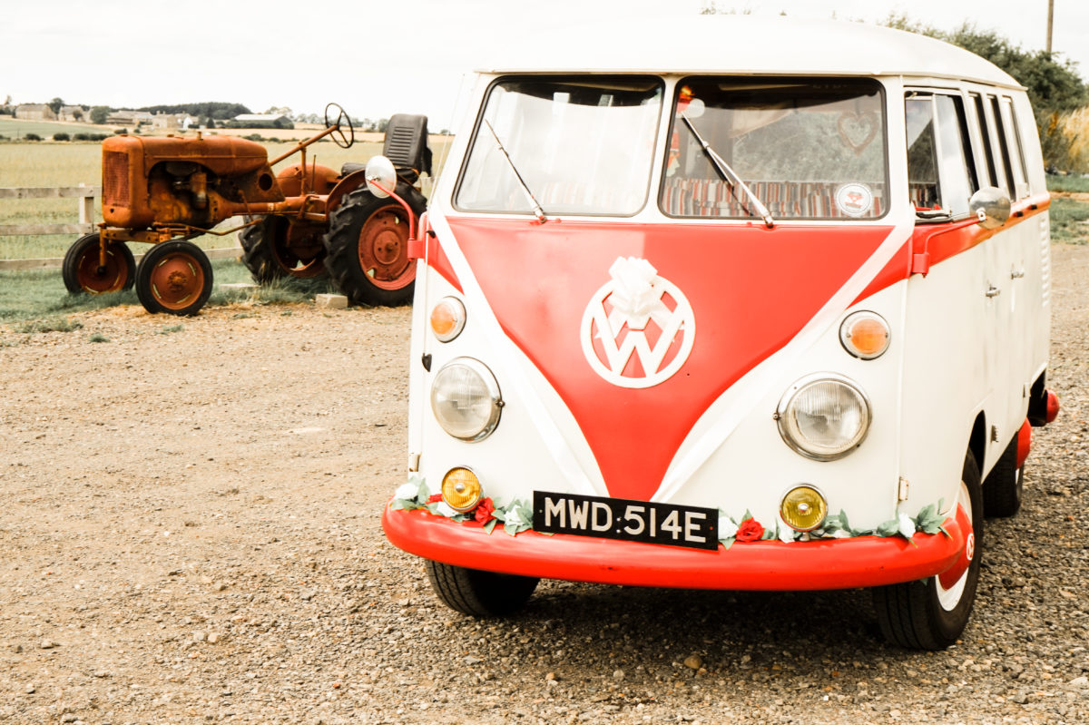 VW Camper Wedding Car at Northside Farm North East