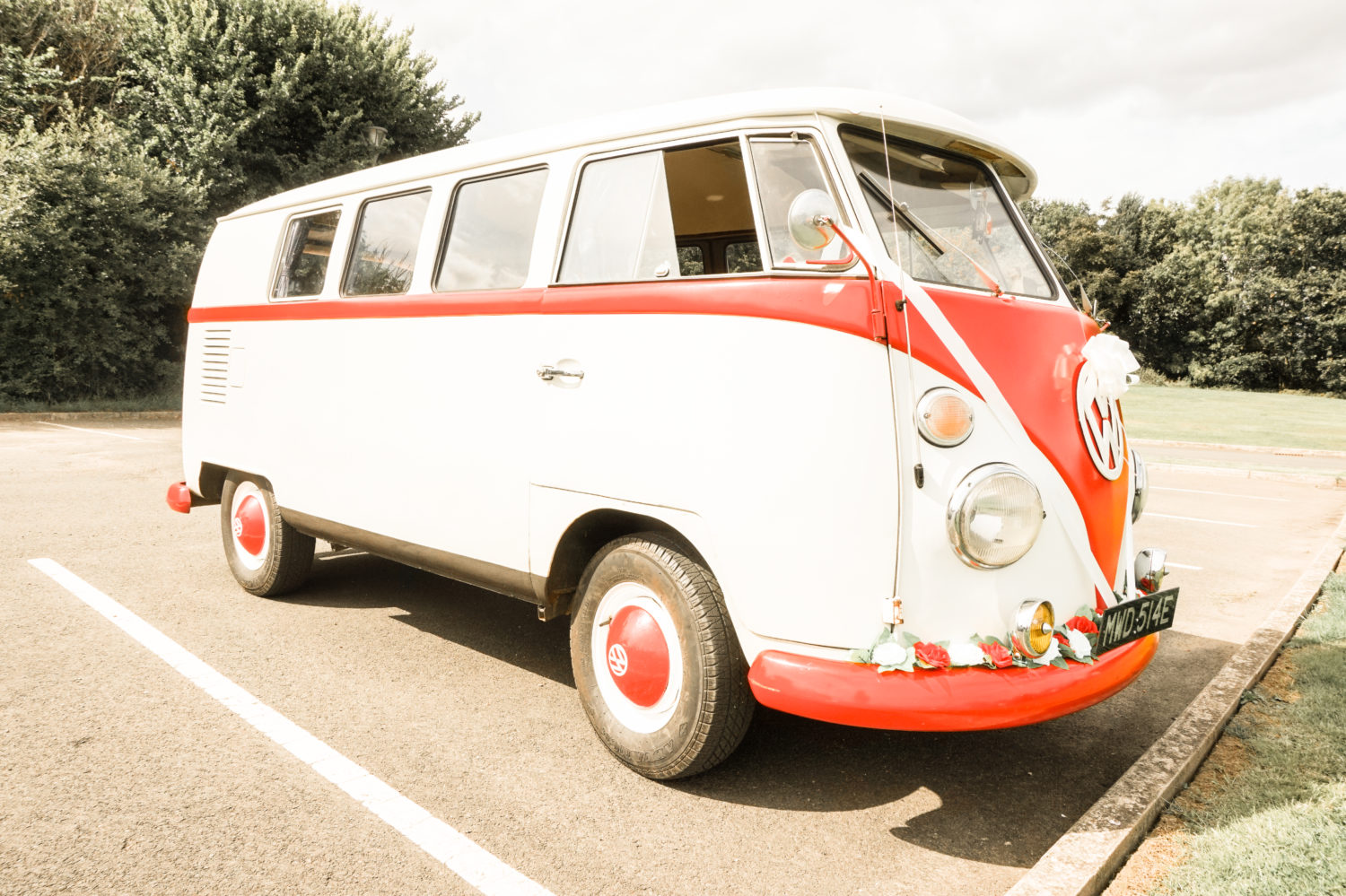 Vintage VW Camper Van Side Profile