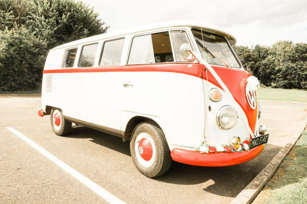 Vintage VW Camper Van Side Profile