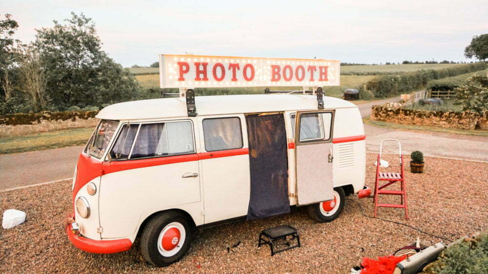 VW Camper Van Photo Booth at Doxford Barns Wedding North East