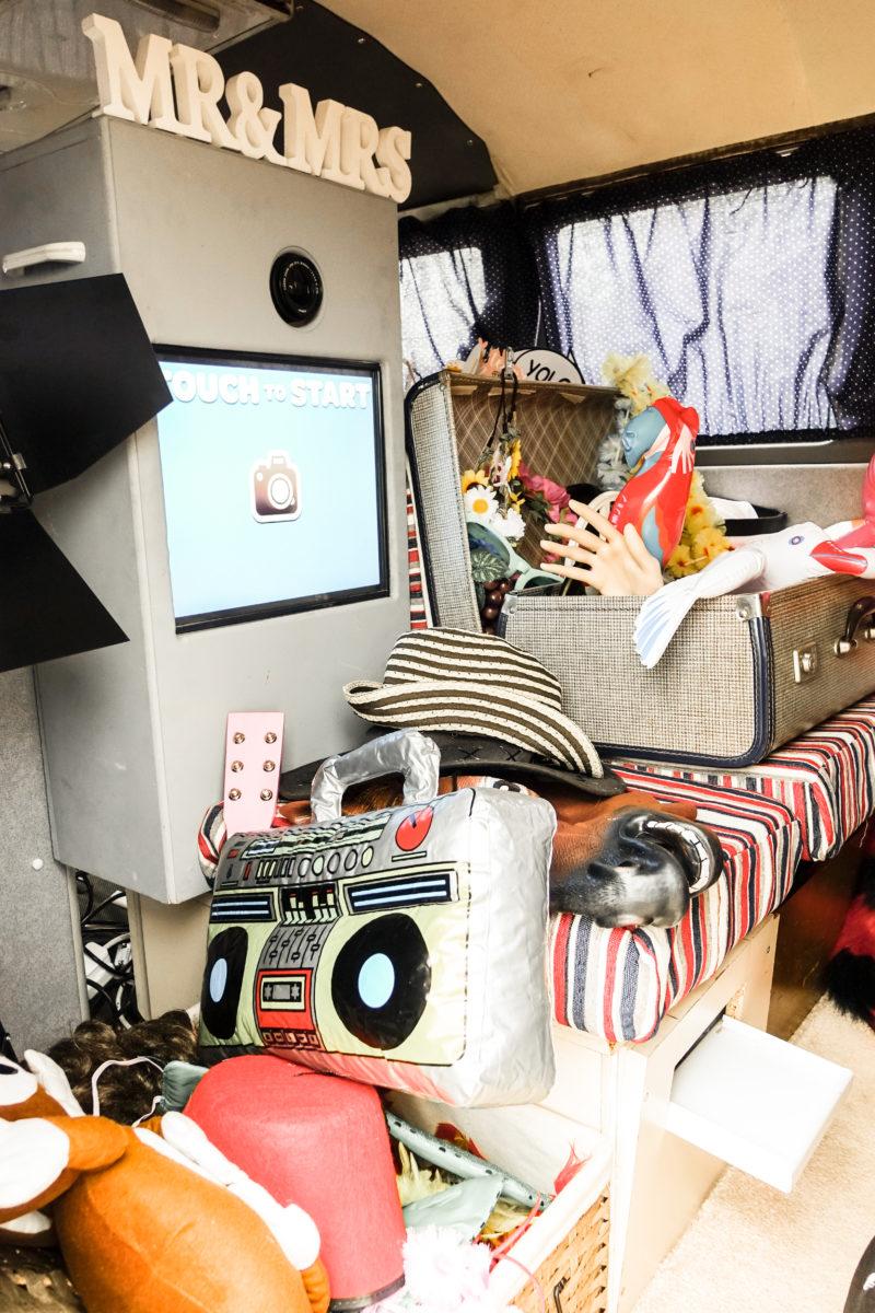 inside Vintage VW Campervan Photo Booth North East