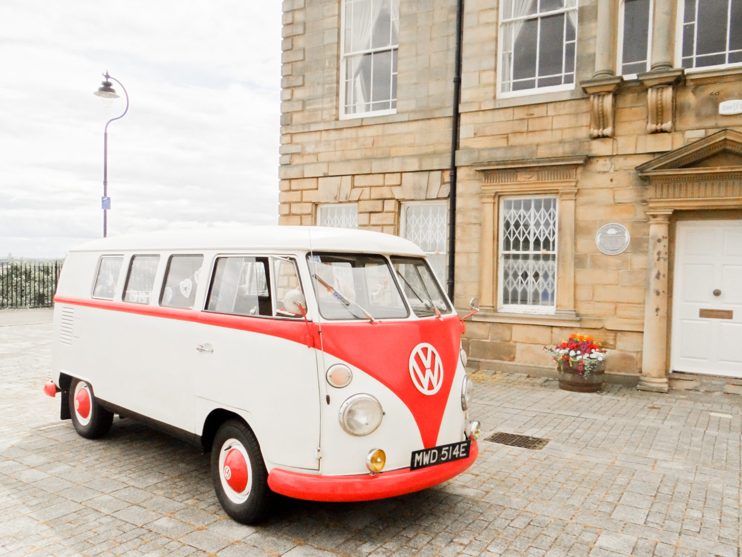 Vintage Wedding Car at Registry Office Wedding North East