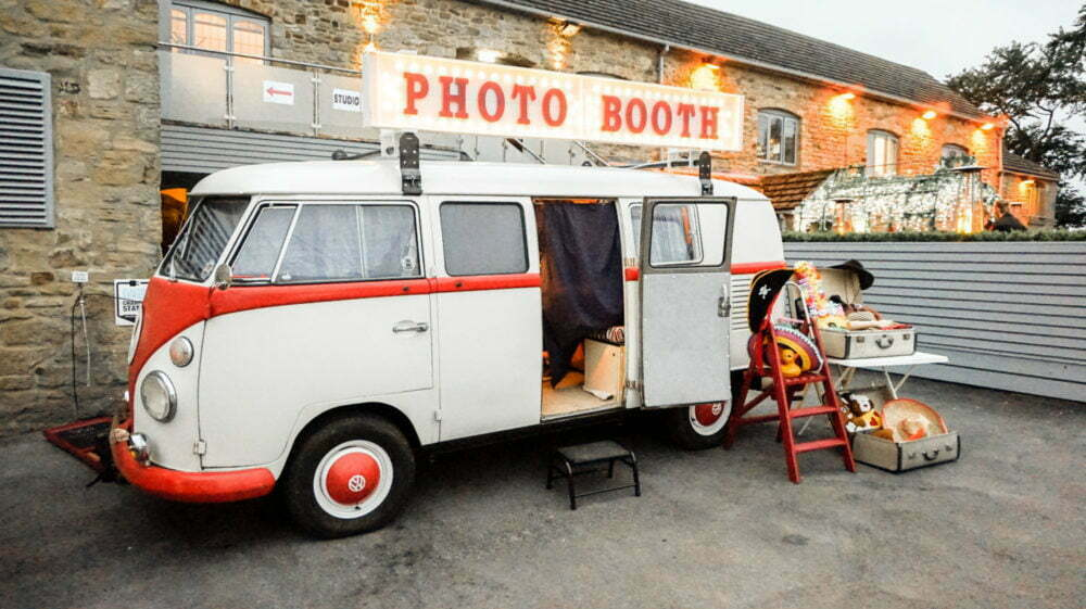 VW Photo Booth With Light Up Sign