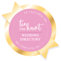 Tie The Knot Wedding Badge
