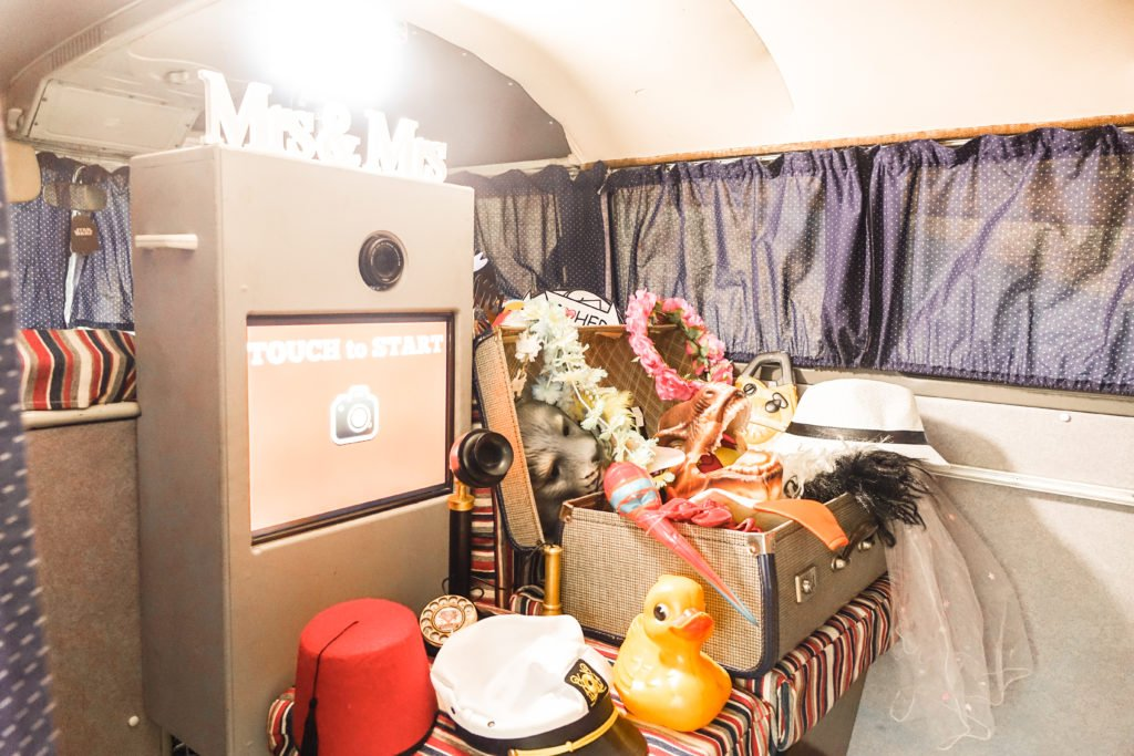 Inside the campervan photo booth