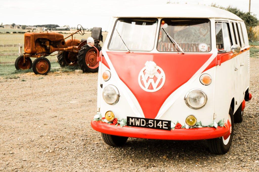 VW Wedding Car Farm Wedding