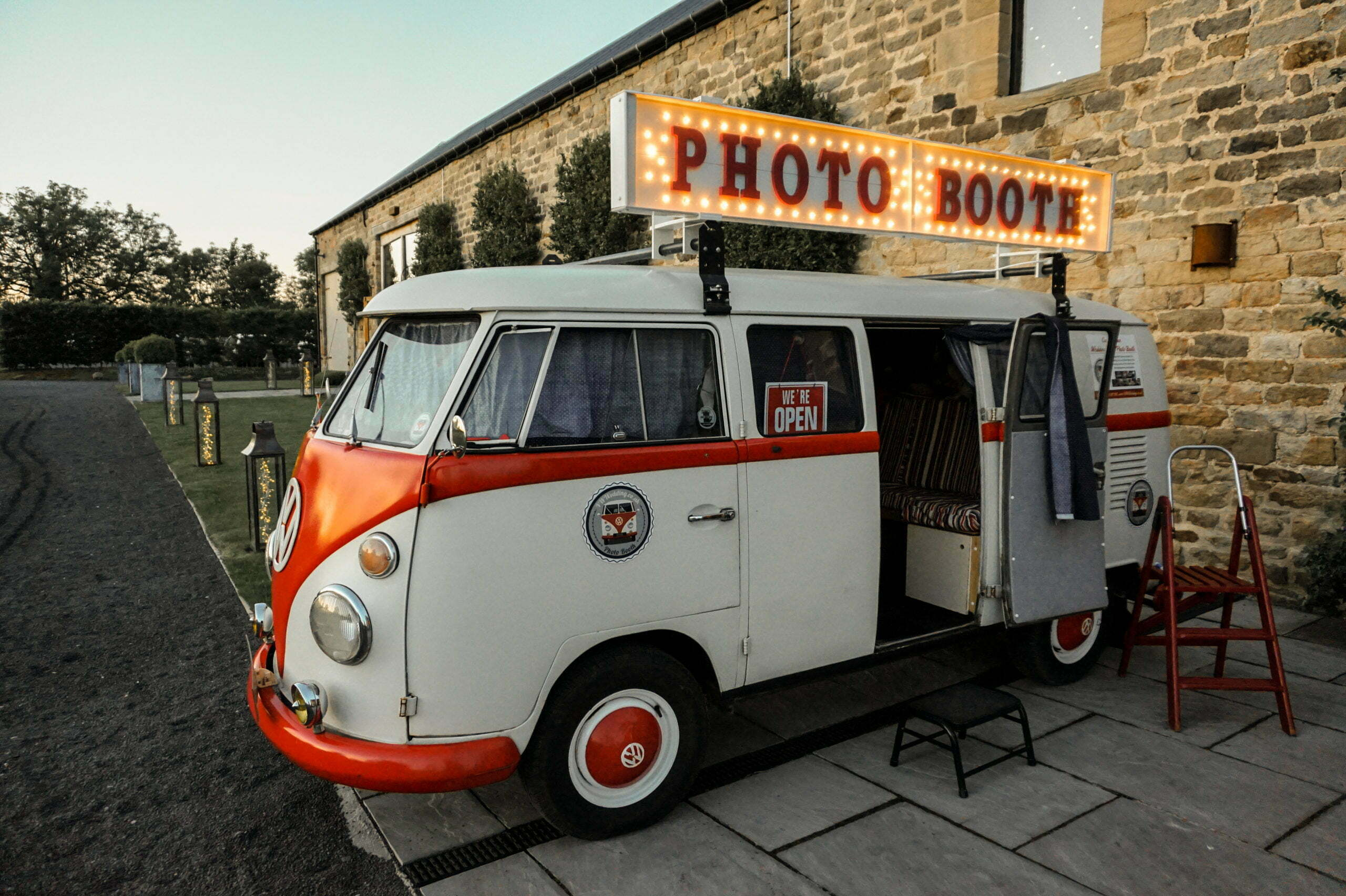 VW Camper Photo Booth At Wedding