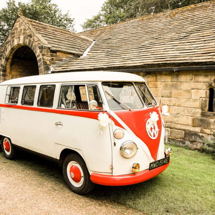 A VW Campervan Photo Booth at a North East wedding in Northumberland